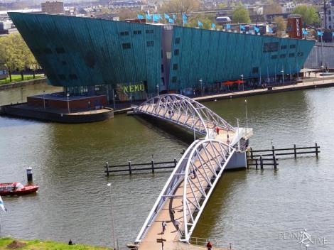 Ausblick von der Bibliothek in Amsterdam, Niederlande - © Planätive